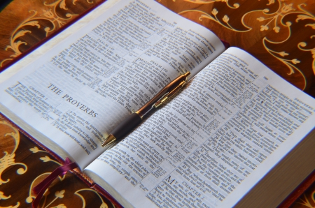 Holy Bible and Pen photo