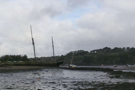 Old ship Falmouth Estuary