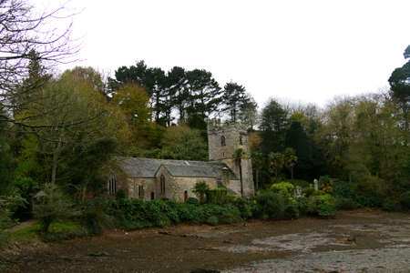 Church on river Cornwall