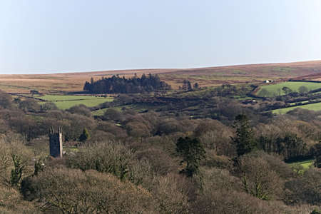 Dartmoor View to Village Church