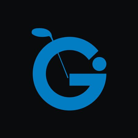 Unique simple logo about the sport of golf