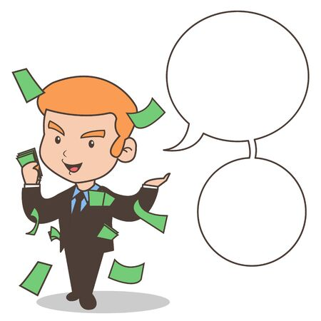 Financial Tips from The Expert with Empty Bubble Text