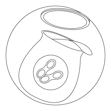 Peanut Butter Simple Line Art Illustration suitable for Coloring Book