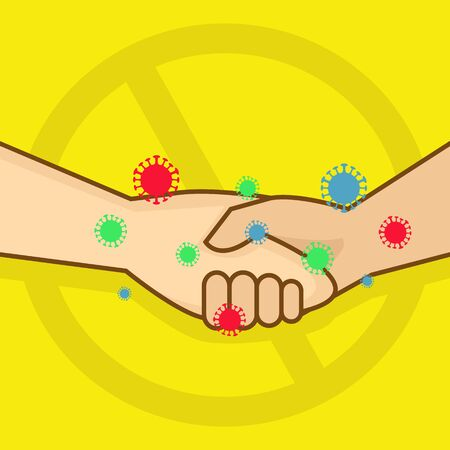 Simple Illustration of No Handshake To Prevent The Spread of Viruses