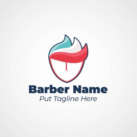 Simple and Unique Logo for Barber Shop. Logo Company. Hair and Grooming.