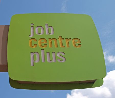 Sign outside a Job Centre Plus office.
