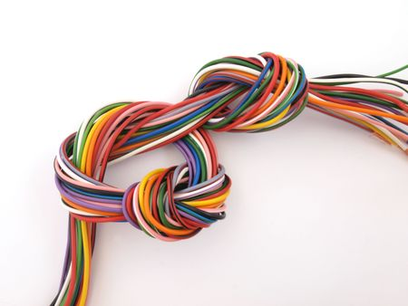 Close up of multicoloured six amp electrical wire  Stock Photo - 4855926