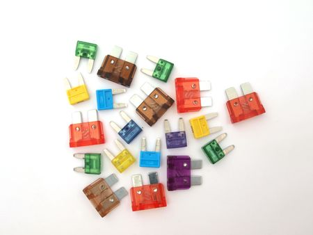 Assorted fuses  that are mainly used in the auto trade.