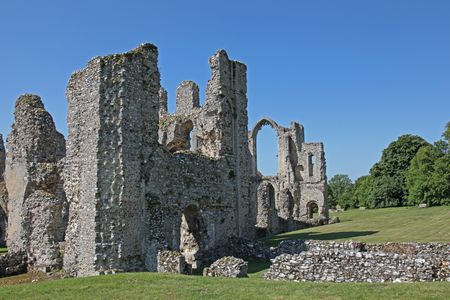 priory: Castle Acre Priory in Castle Acre near  Kings Lynn, Norfolk, dates back to the 12th century; it was used by the monks  as a place of holy worship and meditation until 1537, when Henry V111 disbanded all monastic houses. Stock Photo