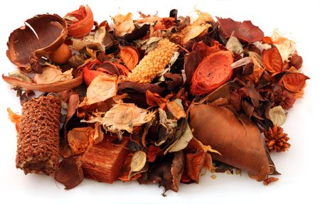 Pot Pourri used for decoration and for aromatic essence  Stock Photo