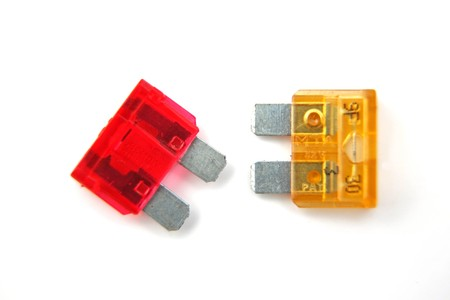 Assorted fuses. as used in the  automotive industry.