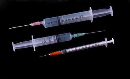 immunization: Hypodermic syringe and needle used for immunization.