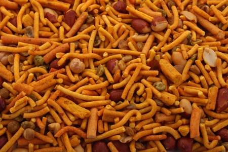 Bombay mix  is an tasy typical party snack.