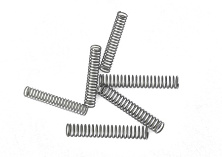 Steel springs on a plain white background. photo
