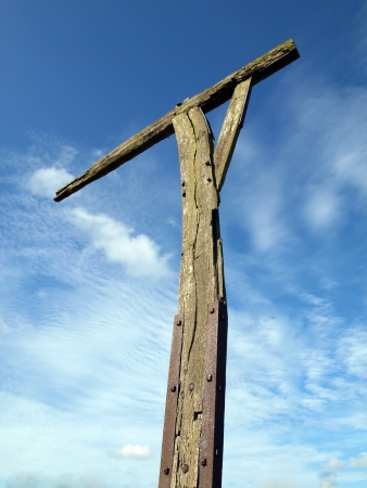 gibbet: Unlike gallows which were used to execute people, gibbets were used to display the body as a warning to others. Caxton gibbet is on a small knoll on Ermine Street near Caxton in Cambridgeshire. It was first used in the 1670�s. The last recorded use was 17