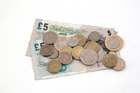 British  uk  currency on a white background  Stock Photo - 17745478