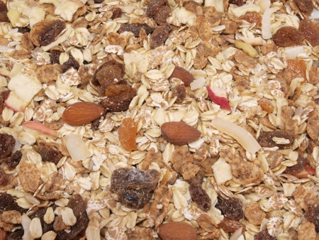Close up of fresh organic Muesli photo