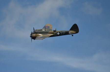 Bristol Blenheim light bomber in flight Stock Photo - 83511646