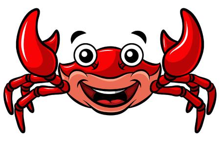 Cartoon Happy Red Crab