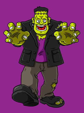 Cartoon Frankenstein Monster Illustration