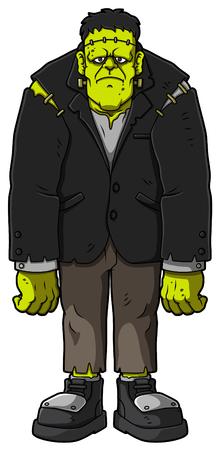 Cartoon Standing Zombie. Vector illustration.