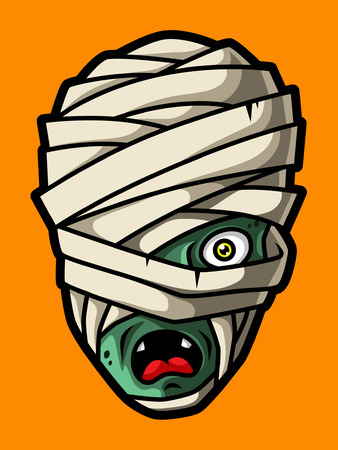 Cartoon Mummy Head