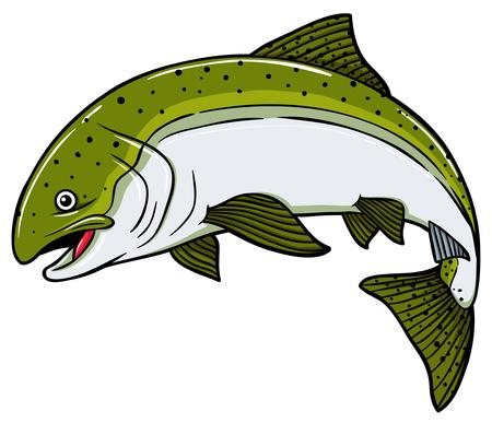 Vector cartoon Salmon fish. Ilustrace