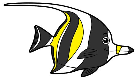 Vector Cartoon Cute Angel Fish
