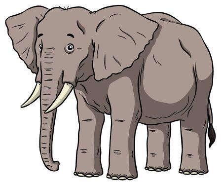 Vector Cartoon Male Elephant Ilustracja
