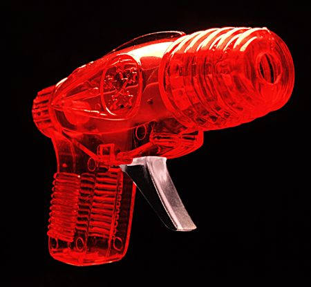 sci: Sci Fi retro rayos pistola de juguete Foto de archivo