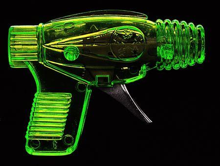 sci: retro sci fi ray gun toy Stock Photo