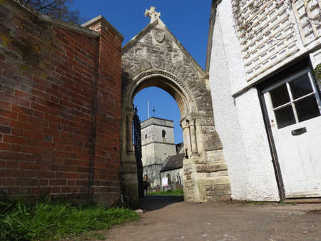 St Michael's Church Betchworth four weddings and a Funeral location viewed through Archway