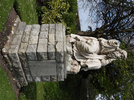 Statue of a Druid in Priory Park, Chichester, Sussex