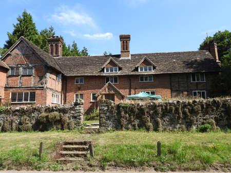 A mid 16th century Tudor farm house at Abinger Hammer in Surrey, England