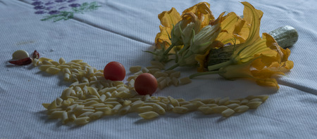 female assassin: Killed the pasta with zucchini.