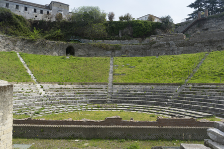 the stands: view of the ancient theater, view from the stands, staps, seating