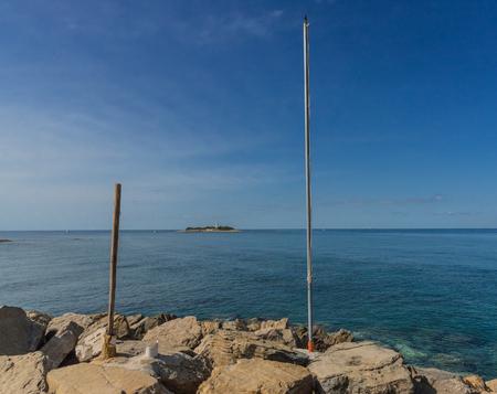 Along the Leucosia Mermaid Trail. Cilento. Castellabate. Campania. Views of the Amalfi Coast. Mediterranean blotch. Vegetation and Sea. Lighthouse of Punta Licosa. Lovely coast. Italy. Campania.