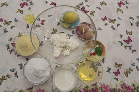 Typical sweet Campano, Spanish and South American origin. ingredients and procedure. Foto de archivo - 93786729