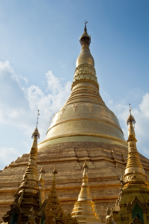 The main buddist temple complex in Yangon, Myanmar Stock Photo