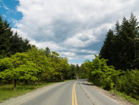 Open highway in British Columbia, Canada