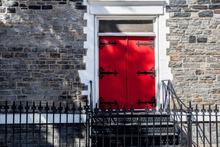 Old fashion door in New York