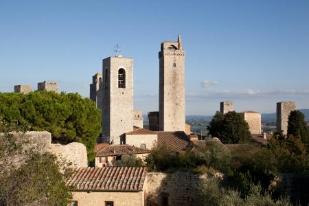 Towers in the city of San Gimignano, Tuscany Stock Photo