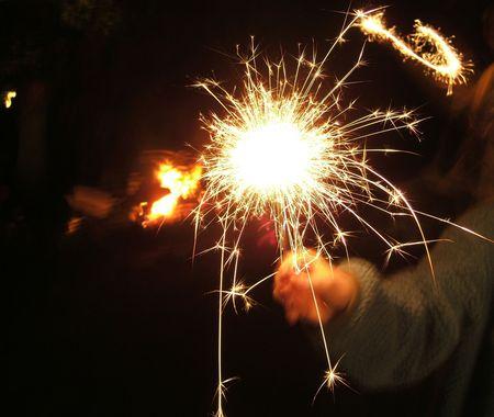 guy fawkes night: sparkler Foto de archivo