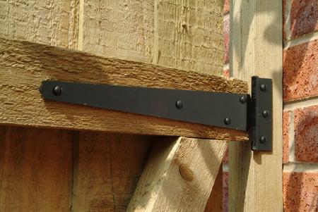 hinge: T hinge on wooden garden gate