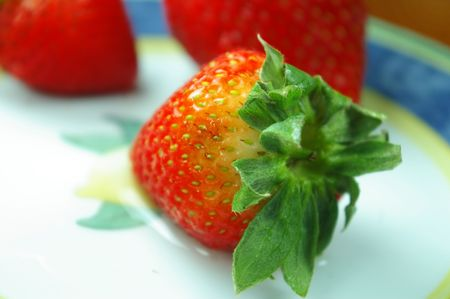 strawberries on plate