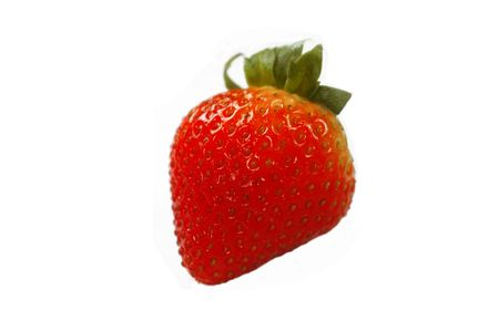 isolated strawberry Stock Photo