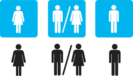 bathroom sign: bathroom signs Illustration