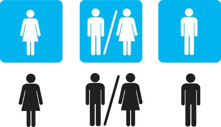 bathroom signs Illusztráció