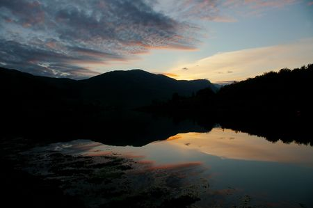 4AM sunrise on Scottish loch