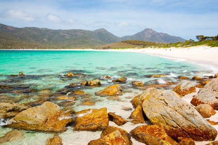 tasmania: The Beach at Wineglass Bay, Freycinet National Park, Tasmania, Australia